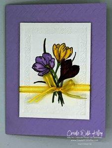 Easter Promise Framed Flowers featuring Stampin' Up! Blends, Heirloom Frame and Coastal Weave embossing folder