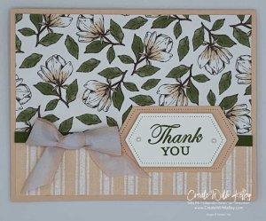 Magnolia Lane dsp, Magnolia Blooms, stitched shape dies, oval dies, Good Morning Magnolia stamp set, petal pink, Stampin' Up!