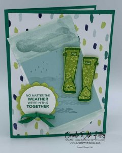 No Matter the Weather Paper Pumpkin Alternative: Raindrops