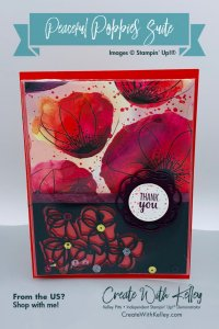 Peaceful Poppies Clear Envelope Shaker Card