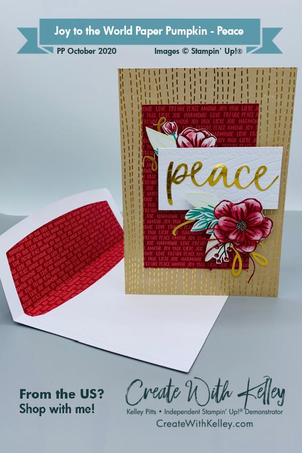 CWK Paper Pumpkin Joy to the World - Peace