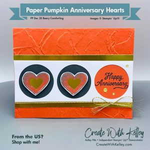 Paper Pumpkin Dec 20 Beary Comforting Alternative Anniversary Hearts
