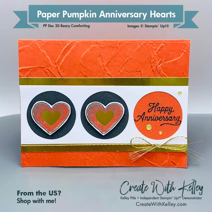 Paper Pumpkin Anniversary Hearts