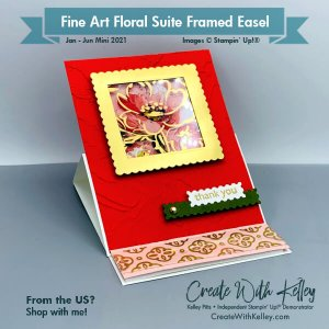 Fine Art Floral Suite Framed Easel
