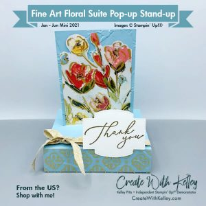 Fine Art Floral Suite Pop-up Stand-Up Card