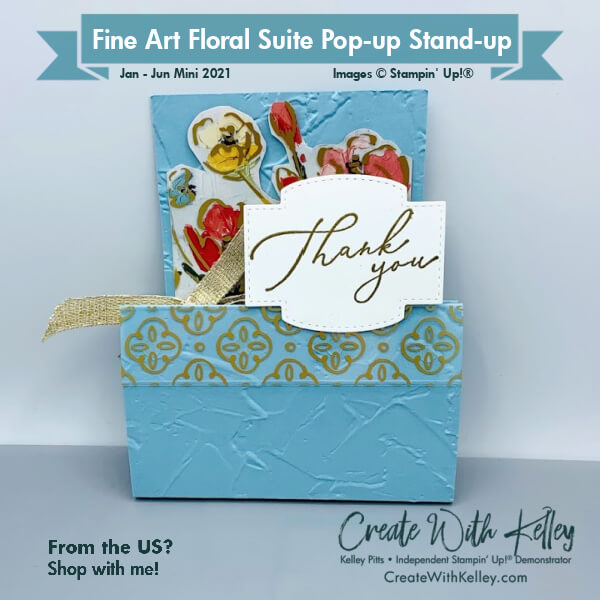 Fine Art Floral Suite Pop-up Stand-Up folded