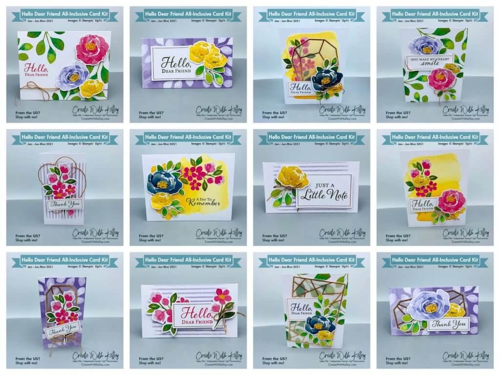 Hello Dear Friend All-Inclusive Card Kit CWK Design Collage