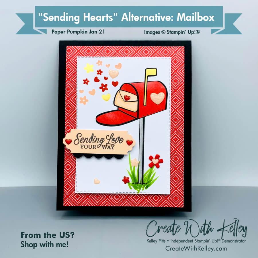 Paper Pumpkin Sending Hearts Mailbox