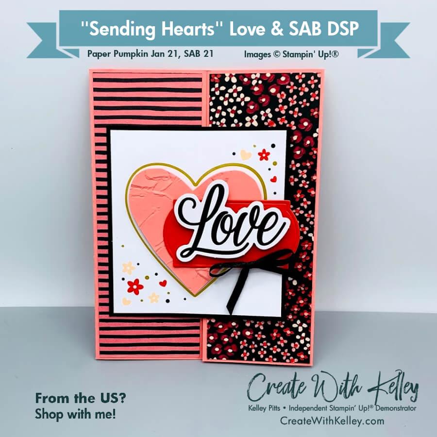 Paper Pumpkin Sending Hearts Jan 21 Love SAB DSP