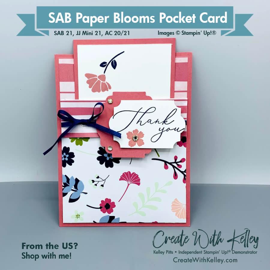 SAB Paper Blooms Pocket Card