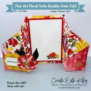 Fine Art Floral Double Gate Fold