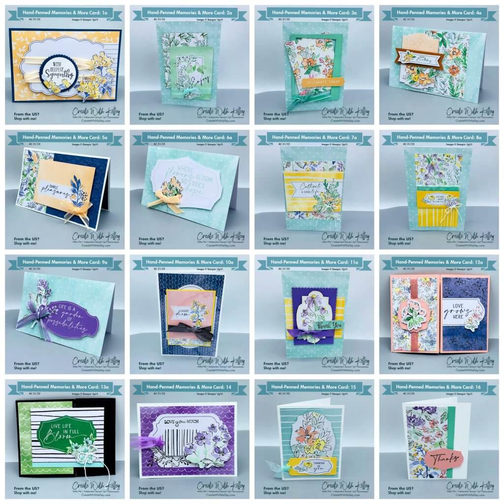 Hand-Penned Memories and More Cards: Set of 16