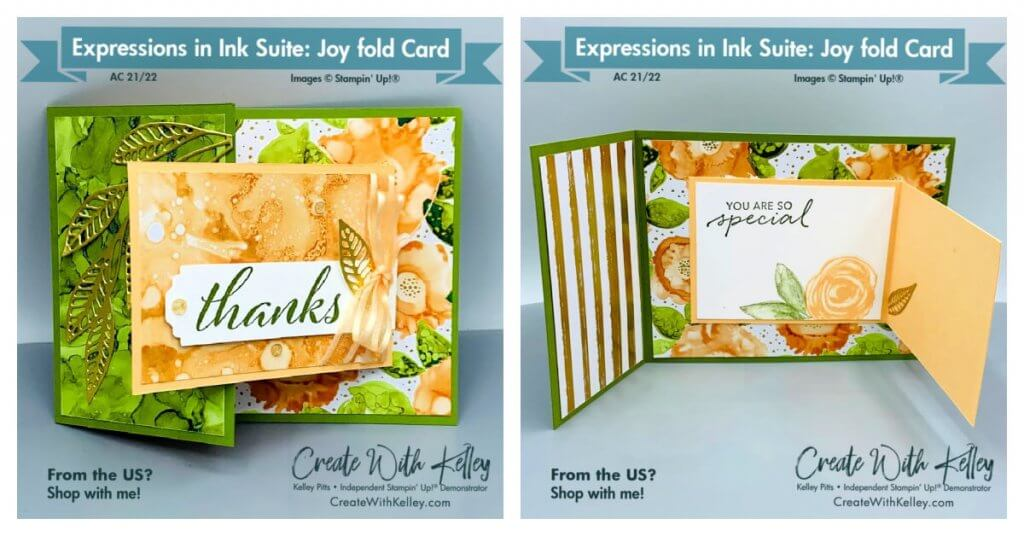 Expressions in Ink Joy fold card