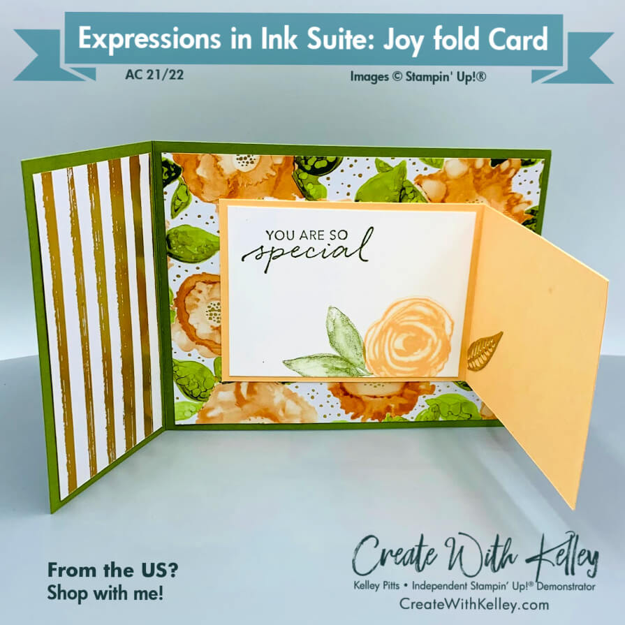 Expressions in Ink Joyfold Card inside