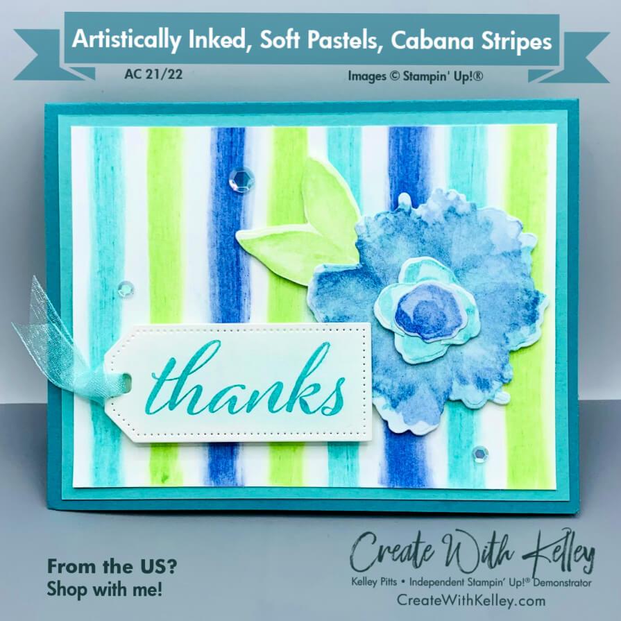 Artistically Inked, Soft Pastels, Cabana Stripes