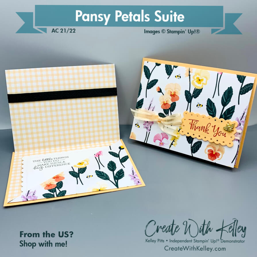 Pansy Petals DSP pocket card front & inside