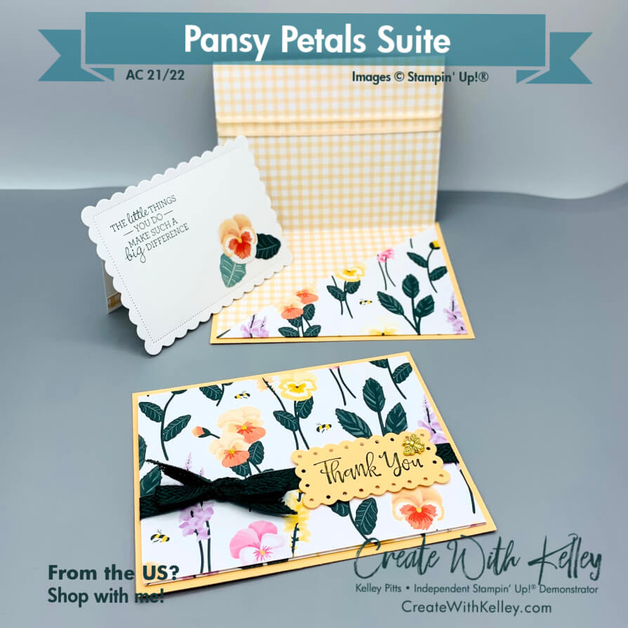 Pansy Petals DSP pocket card inside, front and insert